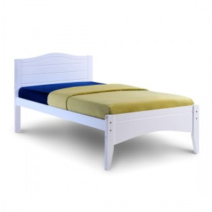Lauren Wooden Single Bed In White