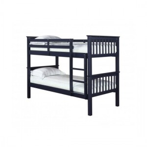 Leo Wooden Bunk Bed In Navy