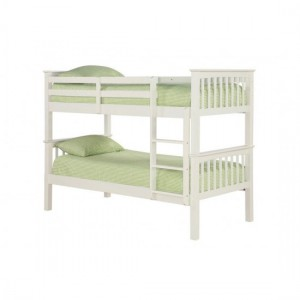 Leo Wooden Bunk Bed In White