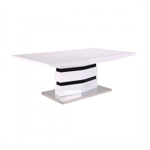 Leona Wooden Coffee Table In White And Black High Gloss