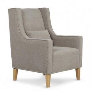 Leven Silver Fabric Armchair With Storage Footsool