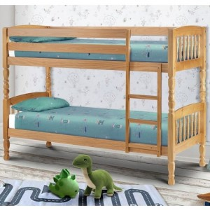 Lincoln Wooden Single Bunk Bed In Pine