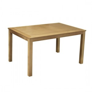 Linden Wooden Rectangular Dining Table In Oak
