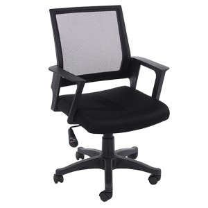 Loft Black Mesh Back Home Office Chair With Black Fabric Seat