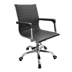Loft Contour Back Home Office Chair With Black Faux Leather