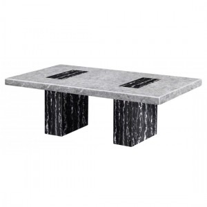 Lotus Marble Coffee Table In Natural Stone And Lacquer