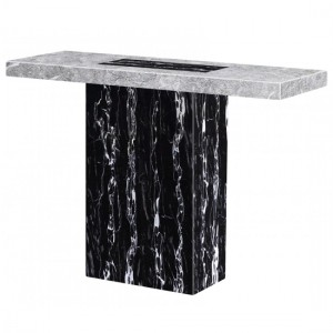 Lotus Marble Console Table In Natural Stone