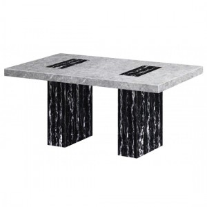 Lotus Marble Dining Table In Natural Stone