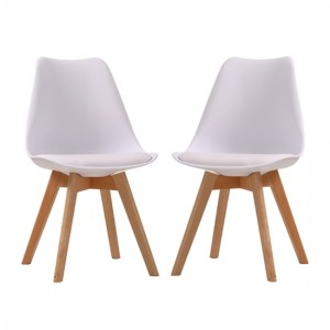 Louvre White Dining Chairs In Pair