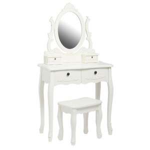 Harper Wooden Dressing Table Set In White