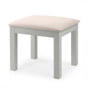 Maine Wooden Dressing Stool In Dove Grey