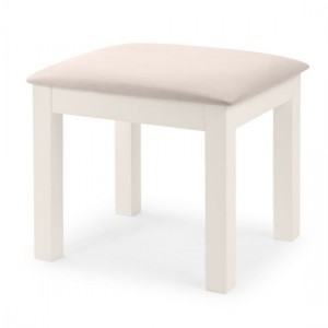 Maine Wooden Dressing Stool In Surf White