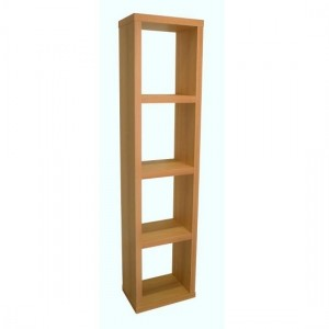 Maine Wooden Narrow Bookcase In Beech With 3 Shelf