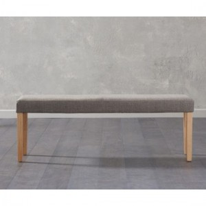 Maiya Large Fabric Dining Bench In Brown