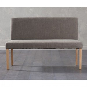 Maiya Large Fabric Dining Bench With Back In Brown