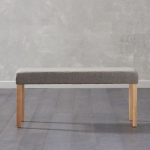 Maiya Small Fabric Dining Bench In Brown