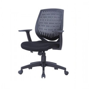 Malibu Fabric Seat And Plastic Backrest Office Chair In Black