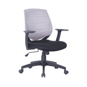 Malibu Fabric Seat And Plastic Backrest Office Chair In Grey