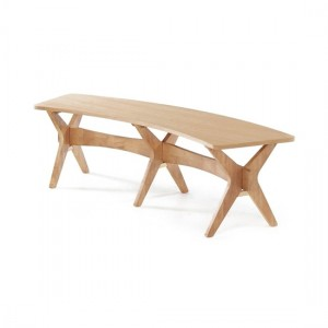 Malmo Wooden Dining Bench In White Oak