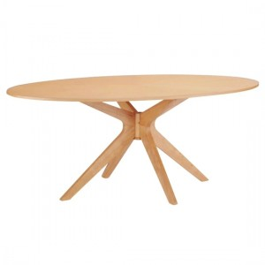 Malmo Wooden Dining Table In White Oak