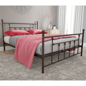 Manila Metal King Size Bed In Bronze