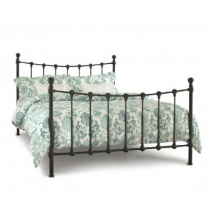 Marseilles Metal King Size Bed In Black