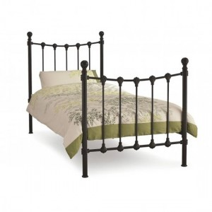 Marseilles Metal Single Bed In Black