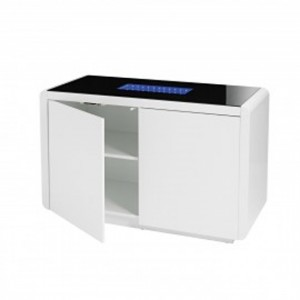 Matrix LED Wooden Sideboard In White High Gloss