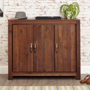 Mayan Wooden Extra Large Shoe Storage Cabinet In Walnut