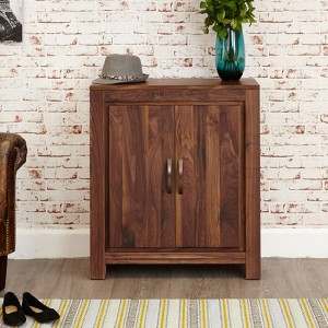 Mayan Wooden Shoe Storage Cabinet In Walnut