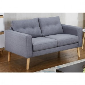 Megan Fabric 2 Seater Sofa In Grey