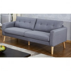 Megan Fabric 3 Seater Sofa In Grey