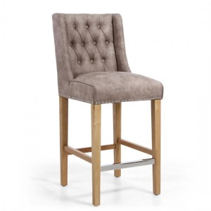 Melville Suede Effect Bar Chair In Beige