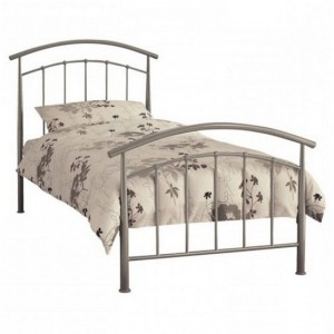 Mercury Metal Single Bed In Pearl Silver