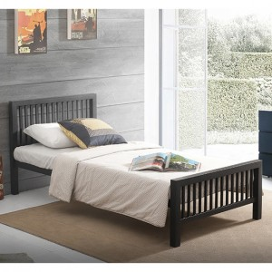 Meridian Metal Single Bed In Black