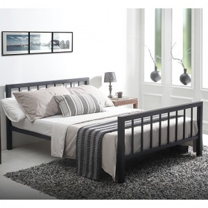 Metro Metal Small Double Bed In Black