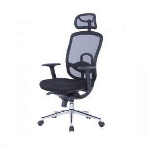 Miami Mesh Back Fabric Seat Office Chair In Black