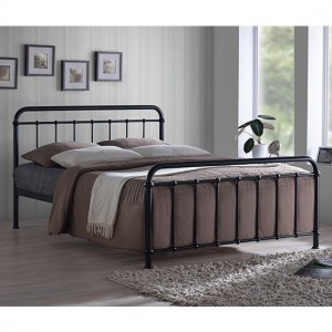 Miami Metal Double Bed In Black