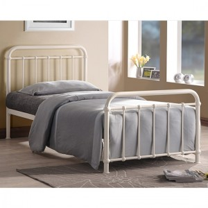 Miami Metal Single Bed In Ivory