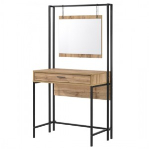 Michigan Wooden Dressing Table In Oak Effect With Mirror