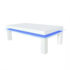 Milano LED Wooden Coffee Table In White High Gloss