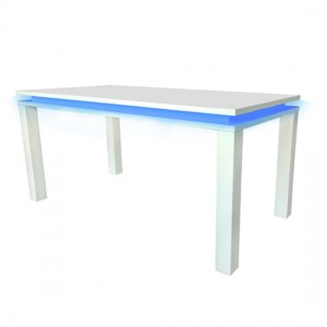 Milano LED Wooden Dining Table In White High Gloss