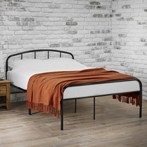 Milton Metal Small Double Bed In Black