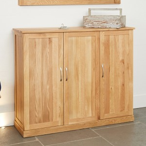 Mobel Extra Large Wooden Shoe Storage Cabinet In Oak
