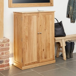 Mobel Large Wooden Shoe Storage Cabinet In Oak