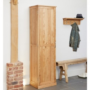 Mobel Tall Wooden Shoe Storage Cabinet In Oak