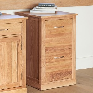 Mobel Wooden 2 Drawers Filing Cabinet In Oak