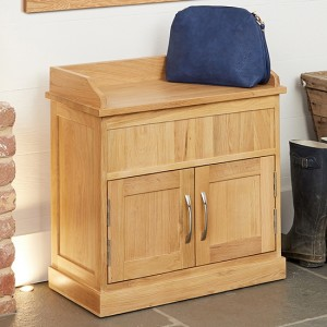 Mobel Wooden Shoe Storage Bench In Oak