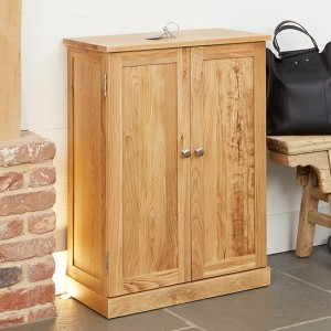 Mobel Wooden Shoe Storage Cabinet In Oak