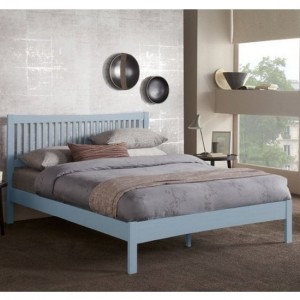 Mya Wooden King Size Bed In Grey